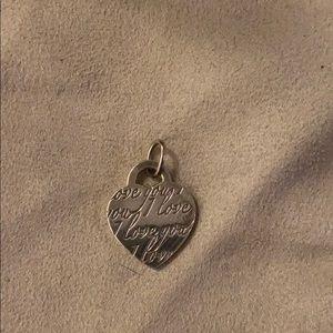 "Tiffany & Co ""I Love You"" Silver Heart Pendant"